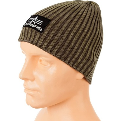 Alpha Industries Heavy Rib Beanie oliva 153901/22