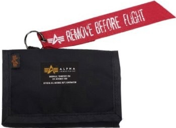 Alpha Industries Crew Wallet čierna 196928/03